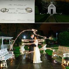 This personal and beautiful Wedding took place at Finnstown Castle Hotel. The ceremony, photos and reception were all in one location Humanist Wedding Ceremony, Wedding Photos, Wedding Rings, Night Photos, Sparklers, Gazebo, Reception, Castle, Table Decorations