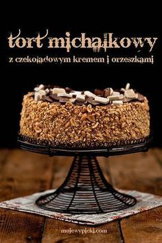 Cake 'Two Michalki' (cake with 2 types of Michalki Chocolates (white and dark) melted, and nuts) Torte Cake, Fudge Cake, Brownie Cake, Pie Cake, Cookie Desserts, No Bake Desserts, Cupcake, Individual Cakes, Cake Recipes From Scratch