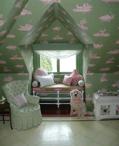 Part 1 Of 2...Cute Little/Young Girls Room...Reminds Me Of A Room My Mom Might Of Had When She Was A Little Girl...