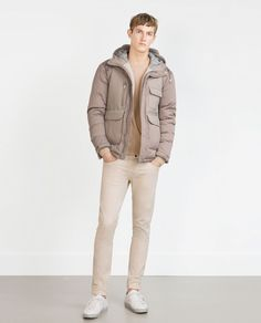 Image 1 of SAND-COLORED JACKET from Zara
