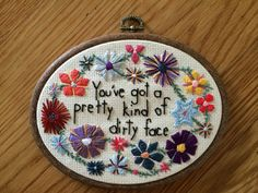 The 1975//Robbers lyric Embroidery Hoop Art by sabinathehuman, $30.00 @Alex Arledge
