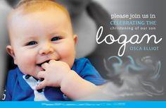 Christening Invitation for baby boy by www.digitalcandie.com.au #invitation #christening #baptism #boy #design