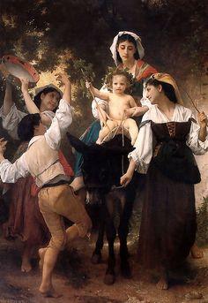 William Bouguereau, Le Retour des vendanges (1878). ◉ [The Cummer Museum of Art, Jacksonville, Florida, USA]