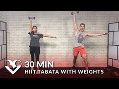 Cardio Workouts 30 Minute HIIT Tabata Workout with Weights - HASfit - Free Full Length Workout Videos and Fitness Programs Tabata Workouts, Strength Training Workouts, Interval Training, At Home Workouts, Training Exercises, Workout Routines, Workout Schedule, Cardio Barre, Weight Workouts