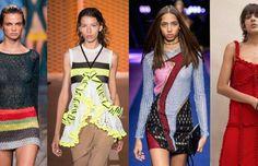 Looks from L-R: Missoni, MSGM, Versace and Attico. Photos: Imaxtree (3), Courtesy of Attico