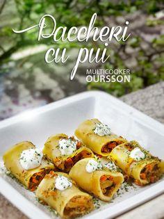 Multicooker Oursson: paccheri cu pui si legume