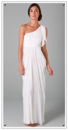 Veiled Haven - The Wedding Inspiration Blog: thoroughly modern: roman and grecian wedding dress