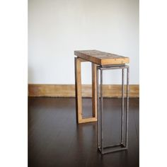 Cute Sofa Table - Reclaimed Wood and Recycled Iron - Blake Avenue Furniture