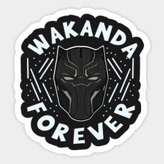 Shop Wakanda Forever black panther stickers designed by hypernerdmaersky as well as other black panther merchandise at TeePublic. Tumblr Stickers, Anime Stickers, Cute Laptop Stickers, Homemade Stickers, Red Bubble Stickers, Marvel Wallpaper, Aesthetic Stickers, Black Panther, Sticker Design
