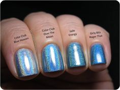 Polish Etc.: Color Club Holo Hues 2013 Swatches and Comparisons!