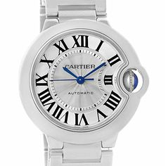 Price:       (adsbygoogle = window.adsbygoogle || []).push();  Cartier Ballon Bleu Steel Midzize Silver Dial Watch W6920046 Box Papers. Automatic self-winding movement. Caliber 076. Stainless steel case 36.6 mm in diameter. Fluted crown set with the blue spinel cabochon. Scratch...