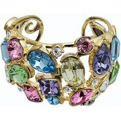 Colorful Gem Cuff Bracelet