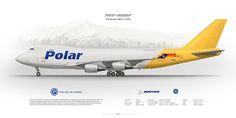 Boeing 747-400F Polar Air Cargo N451PA | www.aviaposter.com | Civil aircraft art print | www.aviaposter.com | #scetch #art #airliners #aviation #aviaposter #jetliner #b747 #jumbojet
