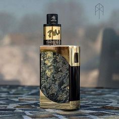 Custom Green and Gold Marble Vape Mod ~ Find thousands of vape mods at Vape Discount & Mod