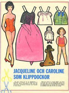 Swedish Jackie and Caroline Kennedy paper dolls.