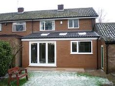 Image result for single storey extension ideas House Extension Plans, Roof Extension, Extension Ideas, 1930s Semi Detached House, Lean To Roof, Orangery Extension, Single Storey Extension, Kitchen Diner Extension, House Extensions