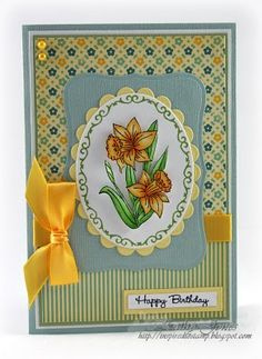 Inspired to Stamp: Birthday Daffodils