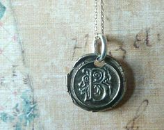 $52.00 wax seal mongram necklace at ETSY (Princeton, New Jersey)    http://www.etsy.com/listing/85923309/custom-wax-seal-monogram-necklace-fine