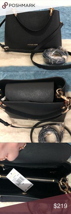 90c580283900 Micheal Kors Leather crossbody bag. New with tag. Black color. Has an extra  strap inside. Michael Kors Bags