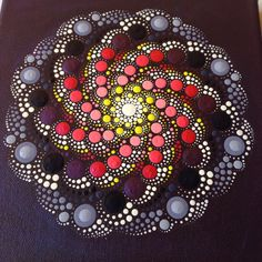 My newest Galaxy Mandala Painting, 20x20cm in vibrant purple and pink colours