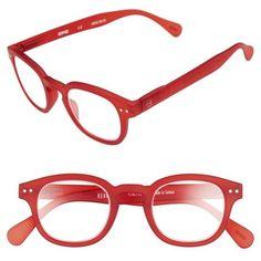 Women's Izipizi C 45Mm Reading Glasses (720 MXN) ❤ liked on Polyvore featuring accessories, eyewear, eyeglasses, red crystal, crystal glasses, red eyeglasses, horn rimmed glasses, red glasses and horn glasses