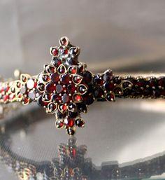ART NOUVEAU Bohemian Garnet Bracelet.  I love the stuff at this etsy shop