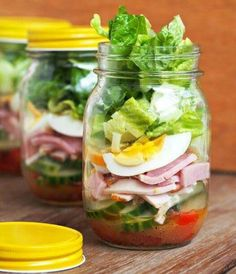 Salad #mason jars