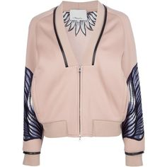 3.1 PHILLIP LIM embroidered varsity jacket (20.995 UYU) ❤ liked on Polyvore featuring outerwear, jackets, coats & jackets, varsity jackets, embroidery jackets, varsity-style bomber jacket, varsity style jacket and 3.1 phillip lim