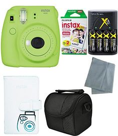 Fujifilm Instax Mini 9 Instant Camera (Mini 2017 Release) - 6 Pack Accessory camera bundle - 20 Instax film - Camera/video case - instax leather album - And much year warranty) Instax Mini 8, Fujifilm Instax Mini, Instax Film, Instant Camera, Film Camera, 6 Packs, Gifts For Girls, Baby Gifts, Cobalt Blue
