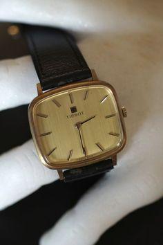 Tissot Golden 14 carats Hand Wind Vintage Men's Wristwatch #Zenith #Vintage