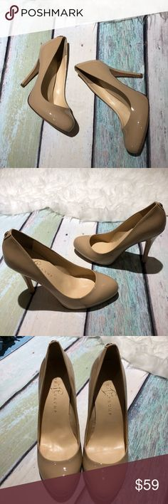 Ivanka Trump Nude Heels EUC. Only defects are the scratch by the ankle and the scratches on the toe.  Approx. Measurement: Heel: 4.5in  💖Don't like the price? Send me an offer. 🧡Tripple checked for flaws. 💛🚬 and 🐶🐱 free home. 💚Steamed, lint rolled, and fuzz removed. 💙Packaged in a clear Polybag. 💜Please ask all questions before buying. Item not fitting does not warrant a low review. Ivanka Trump Shoes Heels