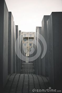 Modern Holocaust monument in the centre of Berlin, Germany.