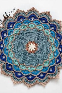 Crochet Bedspread Pattern, Free Crochet Doily Patterns, Crochet Placemats, Crochet Circles, Crochet Quilt, Crochet Chart, Crochet Home, Cute Crochet, Crochet Doilies