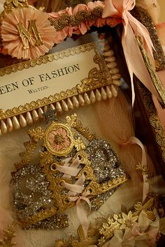 Donna O'Brien Original for Marie Antoinette project. Corset Crown...one of my favorites : )