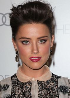 Scrumptious and Sexy Amber Heard ...Trendy Fashion... She attended St. Michael's Catholic Academy in Austin until her junior year, when she left to pursue a career in Hollywood.