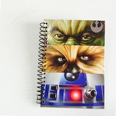 Star Wars Yoda Chewbacca R2D2 Personal Journal Hardcover 5 x 7 Diary Spiral Notebook @ niftywarehouse.com #NiftyWarehouse #Geek #Products #StarWars #Movies #Film