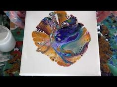 Acrylic pouring, flipping, dragging, dirty pour. - YouTube