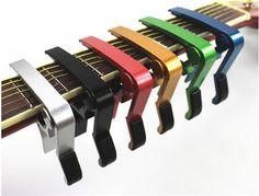 De alta Calidad de Aleación de Aluminio Nuevo Afinador de Guitarra Acústica Guitarra Clásica Quick Change Llave de la Abrazadera Capo Selecciones Para Ajustar El Tono