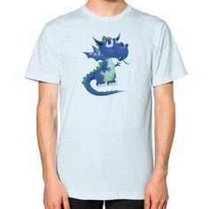 Draco Blue Green Unisex T-Shirt (on man)