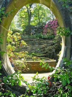 Mount Congreve Gardens, Waterford, Ireland by Bev Staunton. A Hobbit hole. Beautiful World, Beautiful Gardens, Beautiful Places, Beautiful Park, Foto Nature, Garden Gates, Garden Entrance, Ireland Travel, Oh The Places You'll Go