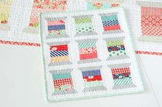 Mini Spools quilt pattern designed by Camille Roskelley