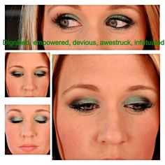 Use these Younique products : Browbone- InnocentCrease - InfatuatedInner Eye - EmpoweredOuter V - Awestruck and little DeviousLower Lash Line- Empowered then Devious, blend outCheeks - Sweet  3D Fiber Mascara Get your Moodstruck Mineral PIgments Make up here: https://www.youniqueproducts.com/lynda/products/view/US-1011-00#.UlNHA1BOMqM  $10.00 each or 3 for $35.00