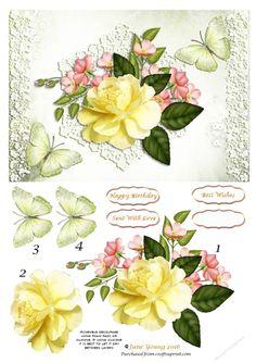 Yellow Rose   Craftsuprint