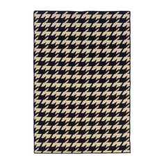 Houndstooth Rug 5x8 Black, $179, now featured on Fab.