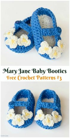 Crochet Baby Booties Slippers Free Patterns: Crochet Baby Booties Slippers for Spring and Crib Walkers, Easy Quick Crochet Gifts for Baby girl and boy Crochet Baby Blanket Beginner, Baby Girl Crochet, Crochet Baby Shoes, Newborn Crochet, Chunky Knitting Patterns, Baby Knitting, Crochet Patterns, Knitting Ideas, Quick Crochet Gifts