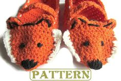 Please Read: This is a listing for a crochet pattern, and not an actual item. When you purchase from this listing, you will receive a PDF File to download and save.  These fox crochet slippers will be fun to create and keep your feet warm. This whimsical woodland creature is easy to make, and great as gifts to those who enjoy forest animals. These slippers come with an option of adding Mary Jane straps.   SKILL LEVEL: EASY (basic stitching skills will be helpful, as well as knowledge of…