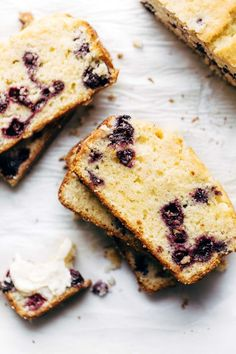 Frugal Food Items - How To Prepare Dinner And Luxuriate In Delightful Meals Without Having Shelling Out A Fortune Blueberry Lemon Bread - Loaded With Juicy Lemon And Blueberries. So Yummy With The Perfect Thick, Soft Texture Lemon Dessert Recipes, Baking Recipes, Cookie Recipes, Bread Recipes, Cupcakes, Lemon Bread, Lemon Loaf, Lemon Bars, Blueberry Bread