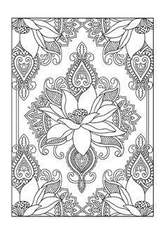 Colouring Books - FREE printable A4 size - Lotus Flower // Imagenes para colorear GRATIS - Flor de loto