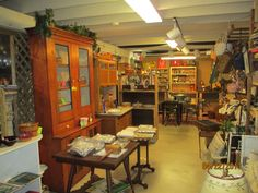 Antiques in the basement at Hearts Design at Needful Things.  www.heartsdesign.com