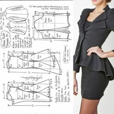 This kind of photo is seriously an extraordinary design conception. Corset Sewing Pattern, Easy Sewing Patterns, Coat Patterns, Clothing Patterns, Dress Patterns, Vogue Patterns, Vintage Patterns, Vintage Sewing, Blazer Pattern
